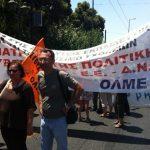 ΠΟΕ-ΟΤΑ και ΟΛΜΕ διαδήλωση διαμαρτυρίας 8/7/2013