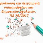 Προεδρικό Διάταγμα 79/2017 για την Πρωτοβάθμια Εκπαίδευση